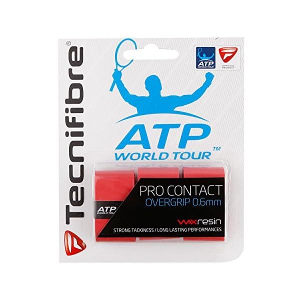 Tecnifibre PRO Contact ATP Rot Overgrip (Confezione da 3), Taglia Unica, Colore: Rosso 1 spesavip