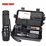Leewa 5000LM(Max output) Zoomable XM-L T6 LED Tactical Flashlight +1x Battery Charger (US PLUG) +1x26650 Battery +1x Flashlight Nylon Pouch +1x User Manual +1x Box