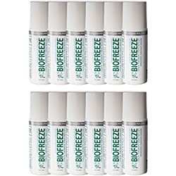 Biofreeze 11828 Pain Relief Gel for Arthritis, 3 oz. Roll On, Colorless Formula (Pack of 12)
