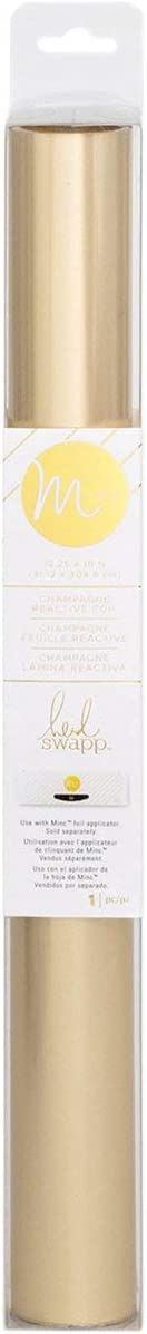 Heidi Swapp MINC Application Machine Reactive Foil by American Crafts | Champagne Foil Roll | 12 x 120-inch