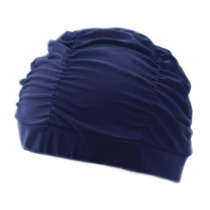 BienBien Donna Cuffie da Bagno con Fiori Moda Cuffia Nuoto Tessuto  Protettiva da Bagno Cappello per Adulti Adolescente Popolare Disegno Goccia  Grande ... 4adf62b2ef3d