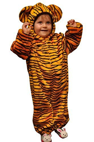 Girl And Guy Halloween Costumes (Fantasy World Tiger Halloween Costume f. Children/Boys/Girls, Size: 5, Zo13)