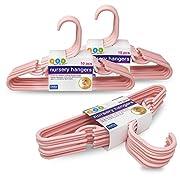 Delta Pink Nursery Hangers 10 Pack - For Baby, Toddler, Kids, Children (Pack of 3)
