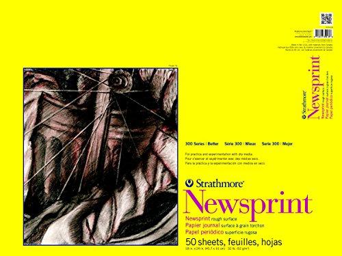Strathmore 307-818 300 Series Newsprint Pad, 18