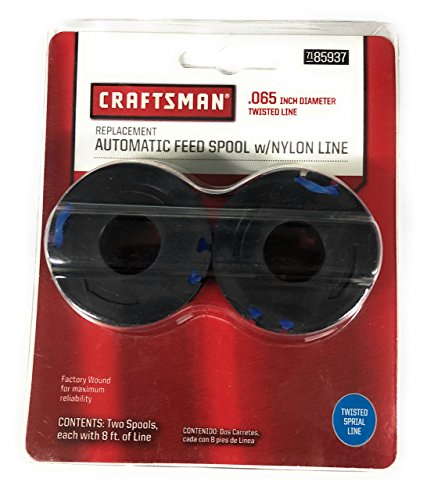 Craftsman Spool - CRAFTSMAN Replacement Automatic Feed Spool /w Nylon Line, 8 Feet. of .065