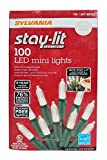 Sylvania Stay-Lit Platinum LED Indoor/Outdoor Christmas String Lights (Various Colors & Sizes) (100ct mini lights, Warm White)