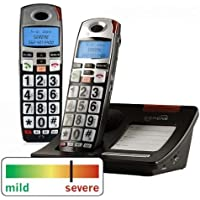 Serene Innovations CL-60 DECT 6.0 Amplified Cordless Phone with Expansion Handset