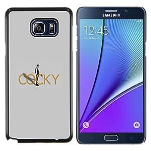 Cocky Han Solo- Metal de aluminio y de plástico duro Caja del teléfono - Negro - Samsung Galaxy Note5 / N920