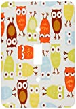 3dRose LLC lsp_60529_1 Owl I Cute In Olive Green and Yellow Orange Single Toggle Switch