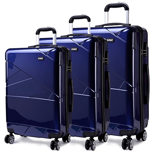 Kono Designer Light Weight Hardshell 4 spinner wheels Travel Trolley...