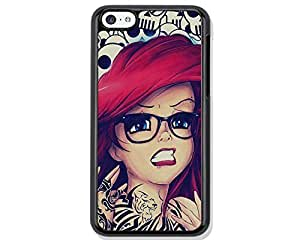 Tattoo Ariel Little Mermaid Design Hard Case Cover Skin for iphone 6 case iphone 6plus iphone 5 5s 4 4s iphone 5c Samsung Galaxy S5 S3 S4 note 2 note3 note4 (Case for iPhone 6(Black Hard)) by runtopwell