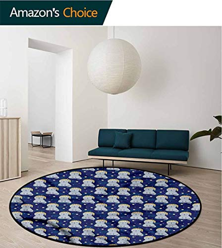 RUGSMAT Cats Modern Simple Round Rug,Sleeping Cats Nighty Night Study Super Soft Carpet ()