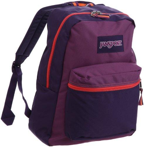 JanSport Superbreak Colorblock Classics Series Daypack (Pure Purple/Punjabi Purple) (Teen Backpacks Jansport)