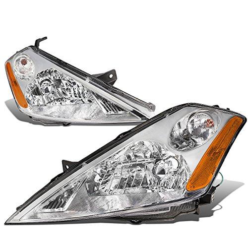 Nissan Headlight Housing - For Nissan Murano Chrome Housing Amber Corner Headlight/Headlamps Left+Right