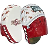 Ringside APM WH/RD Apex Punch Mitts, White/Red