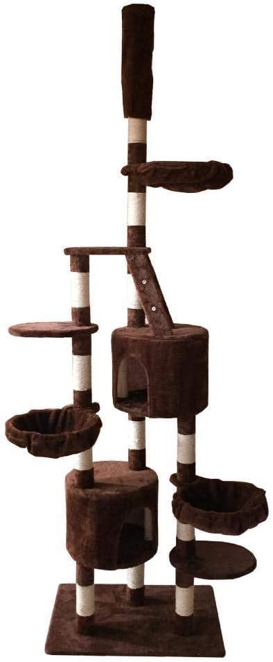 Dixinla Árbol Gatos Gancho agarrador del Animal doméstico Gato Juguete Muebles Junta Gato Nido Cama casa Escalera 70 * 50 * 259 cm: Amazon.es: Productos para mascotas
