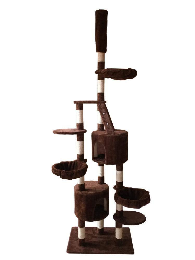 Hexiansheng Cat Climb Trees Pet cat Toy Furniture grab Board villa cat Nest bed House Ladder 70  50  259cm
