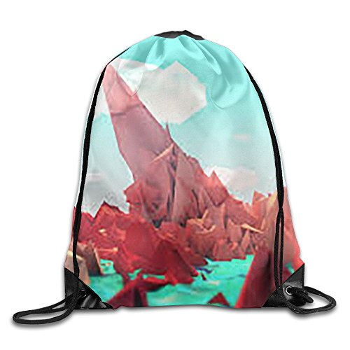 Low Poly Style Drawstring Gym Sport Bag, Large Lightweight Gym Sackpack Backpack For Men And Women