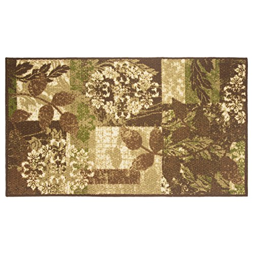 Modern Living Leaves Decorative Area Accent Rug, 26 by 45-Inch