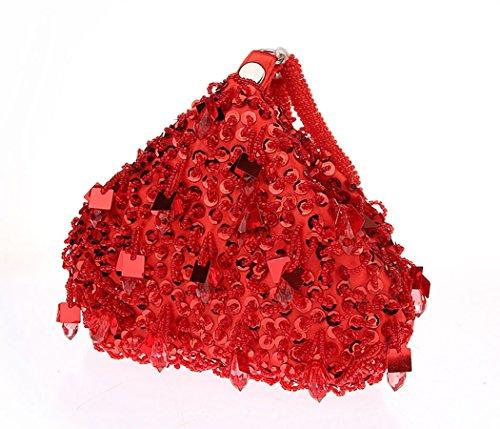 Pour de Mariage de Fête Sac Sac Main Brillant à de Dames Main Femme Rouge à Pour Maintien Des AnKoee Sac Dames TzfqzwI