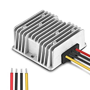 Aweking Waterproof DC/DC 12V Step Down to 5V 10A 50W Voltage Buck Converter Regulator Transformer Power Supply for Car Truck Vehicle CE listed