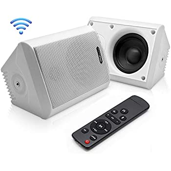 Amazon Com Dual Bluetooth Wall Mount Speakers 4 Inch