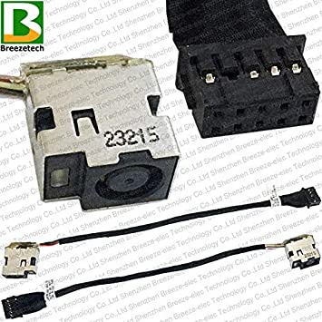 Original DC power jack cable wire for HP DV7 TPN-W109 10-pins 120W