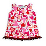 Rubbies - Baby Girls Sleeveless Coverup Dress, White, Pink, Red 17425-24Months
