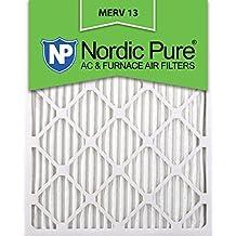 Nordic Pure 16x20x1M13-6 16x20x1 MERV 13 Pleated AC Furnace Air Filter, Box of 6, 1-Inch