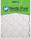 Nordic Pure 16x24x1M13-12 16x24x1 MERV 13 Pleated AC Furnace Air Filter, Box of 12, 1-Inch