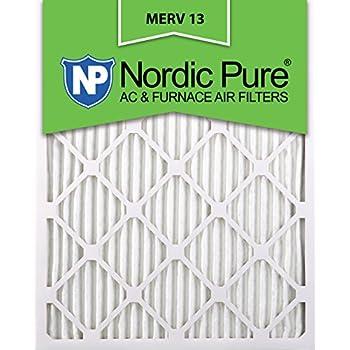 nordic pure 14x24x1m13-6 14x24x1 merv 13 pleated ac furnace air ...