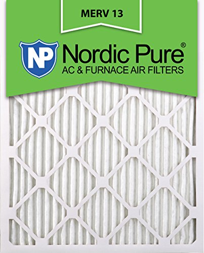 Nordic Pure 18x25x1M13-6 18x25x1 MERV 13 Pleated AC Furnace Air Filter, Box of 6, 1-Inch