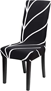 uxcell Dining Chair Covers,Stool Slipcover Stretch Spandex Chair Protectors Short Kitchen Chair Seat Cover for Home Dining Room Party Wedding(Medium,Style 18)