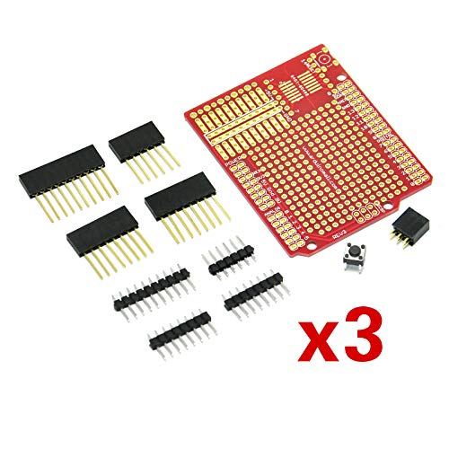 Gikfun Prototype Shield DIY KIT For Arduino UNO R3 Mega 328P (Pack of 3 Sets) Ek1038x3 ()