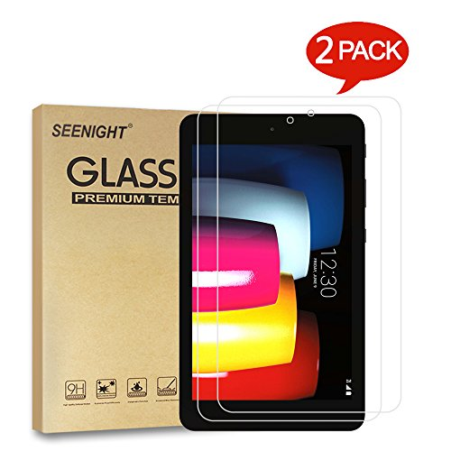 [2 Pack] LG G Pad F2 8.0 (LK460)/T-Mobile LG G Pad X2 8.0 PLUS V530 Tempered-Glass Screen Protector,9H Hardness Scratch Resistant for LG G Pad F2 8.0 LK460/G Pad X2 8.0 Plus 8-Inch Android by SEENIGHT