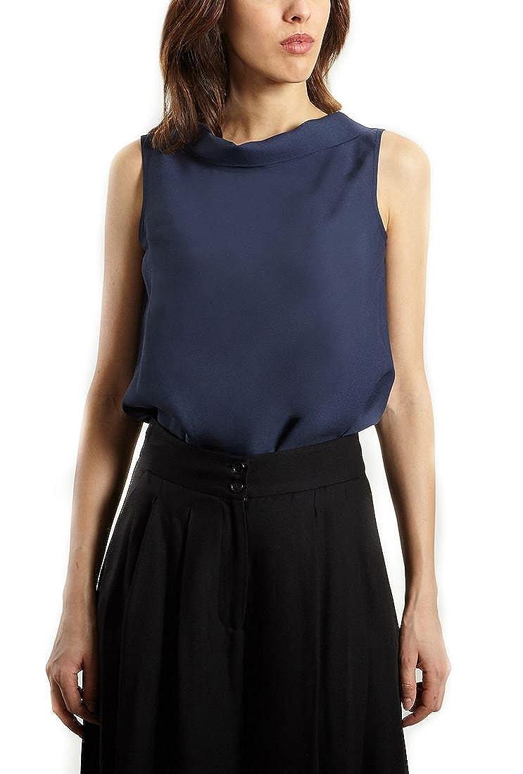bluee Tara Jarmon  Women's Back Tie Top  bluee