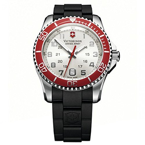 Victorinox Swiss Army Women's 241484 Maverick Silver Dial Black Rubber Strap - Women Maverick