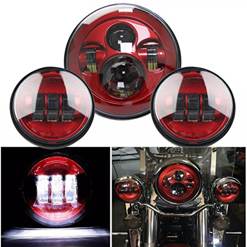 Motorcycle Red light Set 7 inch led