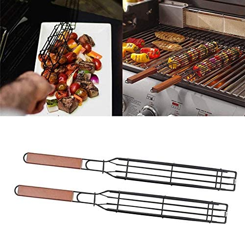 rosemaryrose Grille de Barbecue - Le Panier de Gril Portable pour n'importe Quel Gril tournebroche