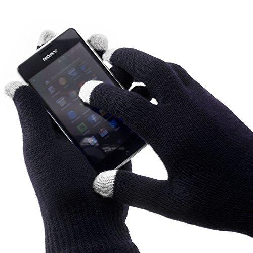 Damen Handschuhe magic touch ideal für ihr Smartphone (Grau)