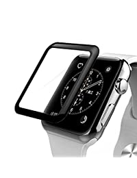 Apple Watch Series 3 Screen Protector,Anrain Series 3 42mm Full Coverage Ultra Slim Tempered Glass Screen Protector - Premium Anti-Scratch & Shockproof for Apple Watch 42mm,Black