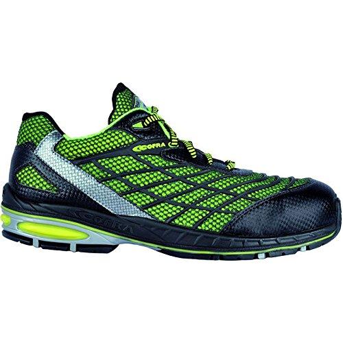 Cofra zapatos de seguridad Trivela S1 P New grevinga 19100-000 es muy transpirable, colour verde, Verde, 19100-000