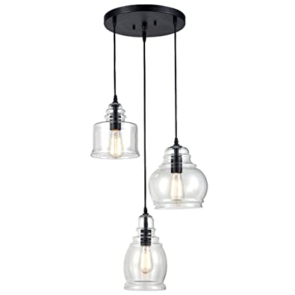 linear lights island vintage chandelier pendant dp claxy lighting kitchen glass ecopower fixture light