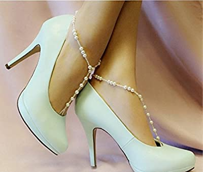 Jackie Amazing Beach Barefoot Pearl Foot Anklet Chain