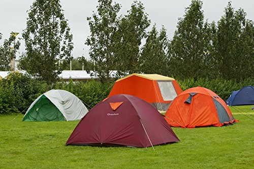 Colourful tents in a camping place in Reykjavik, Iceland 30x40 photo reprint by PickYourImage