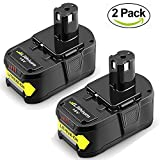 2Packs 18V 6.0Ah Battery for Ryobi Lithium Ion ONE+ Plus P102 P103 P104 P105 P107 P108 P109 P122 Cordless Power Tools