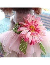 Gain Bargain World Summer Dog Dress Sunflower Skirt Puppy Dog Princess Lace Dress Skirt offer