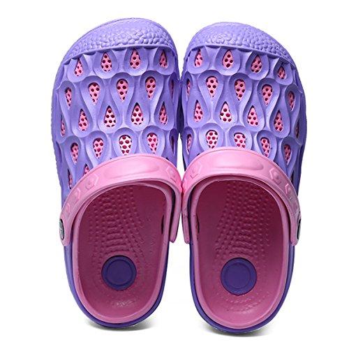 Beach Shoes Mesh Footwear Breathable Summer BADIER Water Mens Purple Slip Walking Unisex Shoes Slippers Shower Clog Sandals Anti Garden Womens wxvRTRX