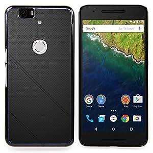 GIFT CHOICE / Teléfono Estuche protector Duro Cáscara Funda Cubierta Caso / Hard Case for Huawei Google Nexus 6P // Black leather //
