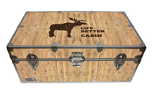 Cottage & Cabin Storage Trunk - 14 Themed Footlockers - 32 x 18 x 13.5 Inches